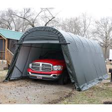 Trailer Garage Garage In A Box Roundtop Shelterlogic 62780 Instant Garages
