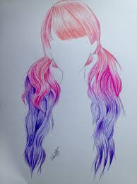 pink purple ombré hair drawing hair ideas pinterest pink