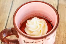 gluten free red velvet mug cake
