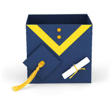 graduation box silhouette design store view design 130205 graduation gown box