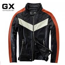 Cowhide Leather Vest Style Men U0027s Locomotive Cowhide Leather Jacket