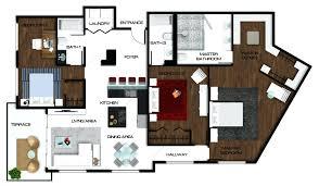 Nice Floor Plans Nice Floor Plan Rendering Techniquerendering Plans By Hand In