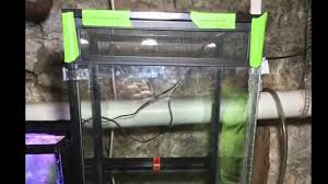how to guide convert a 40b aquarium to a vertical tank youtube