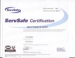 matthew goff u0027s portfolio certifications and scholarships