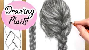hair platts how to draw a plait braid hair drawing tutorial step by step