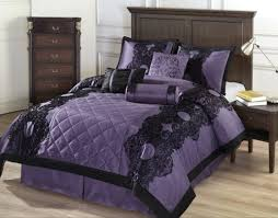 Full Size Purple Comforter Sets Black And Purple Bedding Tattoo Comforter Bed Set Teal Black And