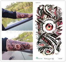 body art beauty makeup pink dangerous robot eyes tattoo 7d