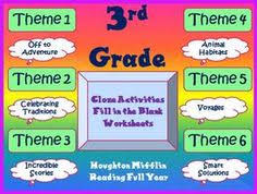 houghton mifflin second grade vocabulary theme 4 cloze worksheets