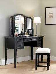 mirror stool with black leather seat also mirror vanity table with