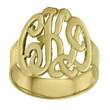 Gold Monogram Rings Jewelry Monogramsonwebster