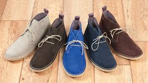 salina mens summer chukka boots navy blue suede
