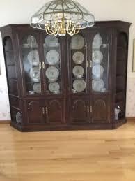 lighted curio cabinet oak ethan allen 119210 cherry lighted curio wood cabinet georgian court