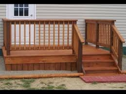 How To Build A Deck Handrail How To Build An 8 X10 Deck For Beginners Youtube