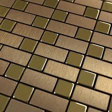 metallic tiles backsplash brushed metallic mosaic tiles stainless steel kitchen backsplash 9102