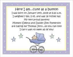 birth announcement wording pram personalized birth announcements by the personal note use