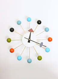 a modern ball clock for the bedroom dans le lakehouse a modern ball clock for the bedroom