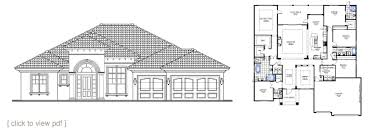 semi custom home floor plans north florida home builders