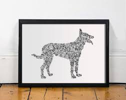 belgian sheepdog guard dog belgian dog breeds etsy