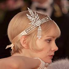 1920 hair accessories 1920s flapper great gatsby hair jewelry wedding headband vintage