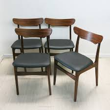 Danish Chair Design by Set Of 4 Danish Chairs In Rosewood Schionning U0026 Elgaard 1960s