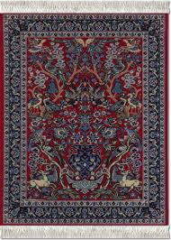 What Are Persian Rugs Made Of by Amazon Com Lextra Tree Of Life Mouserug Red Blues And White