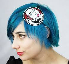 cool hair accessories lichtenstein headband comic book drama on the phone