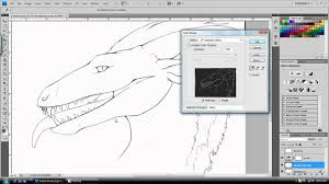 turning a drawing into lineart on photoshop youtube