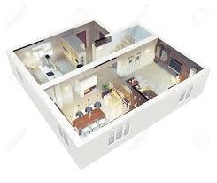 3d ground floor plan plan view of an apartment ground floor clear 3d interior design