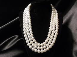 elegant pearl necklace images Pearl necklace above accessories jpg