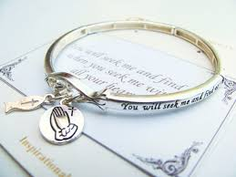 pandora silver bangle charm bracelet images Jeremiah 29 13 fish prayer hands charm bracelet inspirational JPG