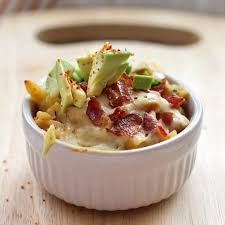 easy as abc spicy mac and cheese with avocado bacon and chicken