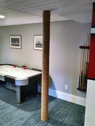 basement wrap top 50 best basement pole ideas downstairs column cover designs