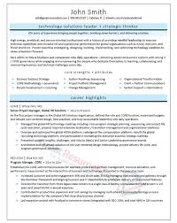 Pmo Cv Resume Sample by Executive Resume Samples Professional Resume Samples