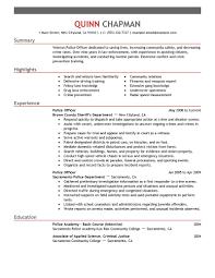 resume examples monster officer resume help police officer resume sample monster com
