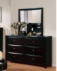 Black Laminate Wood Flooring Charming Black Color Dresser With Mirror Design Ideas With Black