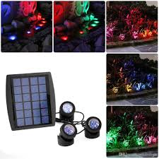 solar pool lights underwater solar power 18 rgb led underwater spotlight light garden swimming