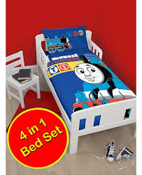 Train Cot Bed Duvet Cover Thomas Train Team 4 Piece Bedding Set Price Right Home