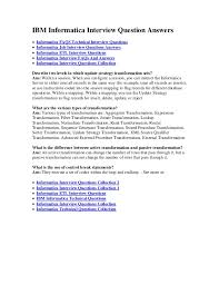 ibm informatica interview question answers