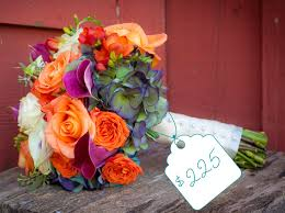 wedding flowers cost bright bouquet of orange purple and white cost flowers the