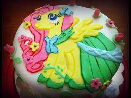fluttershy my little pony birthday cake youtube cake my