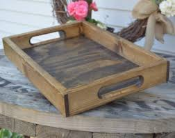 Wooden Trays For Ottomans Rustic Ottoman Tray Etsy