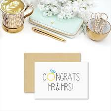 congrats on wedding card wedding card congratulations congrats mr mrs wed041