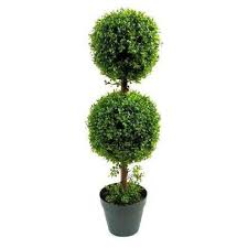 artificial 3ft 90cm two boxwood tree