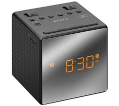 buy sony icfc1tb analogue clock radio black free delivery currys