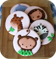 safari animal cookies safari party safari baby shower safari