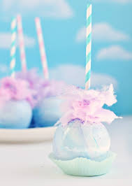 cotton candy party favor whimsical pastel swirl cotton candy apples sweetapolita