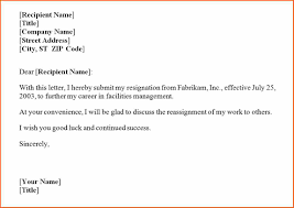 10 resignation letter budget template letter