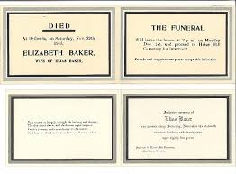 funeral card funeral cards for elias baker 1844 1929 and elizabeth baker died 1913