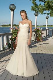 casual wedding dresses uk ruching sweetheart mermaid chiffon ivory beaded glorious casual
