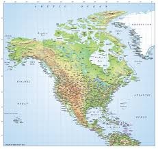 1600 Map Of America by Digital Vector Relief Map Of North America Regular Colours In